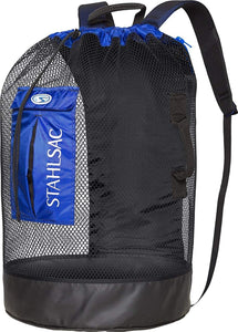 Stahlsac by Bare Bonaire Deluxe Mesh Wet/Dry Backpack (Black/Red)