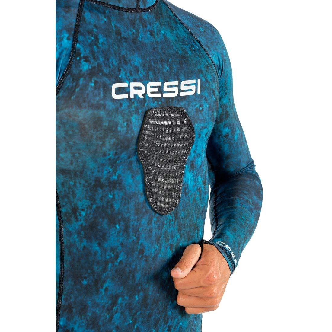 Cressi Blue Hunter Hooded Rashguard - EXCLUSIVE