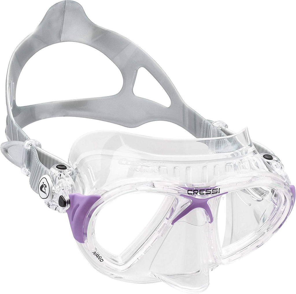 Cressi Low Volume Scuba Diving mask made in the revolutionary Crystal silicone | Nano made in Italy