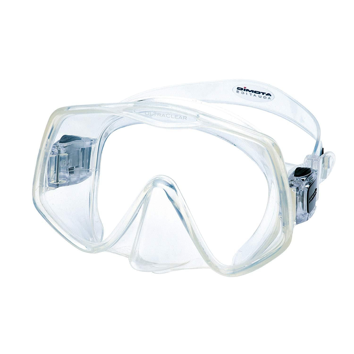 Atomic Aquatics Frameless 2 Mask (Clear, Large Fit)