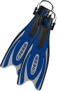 Cressi Frog-Plus Fins - Blue - X-Small-Small
