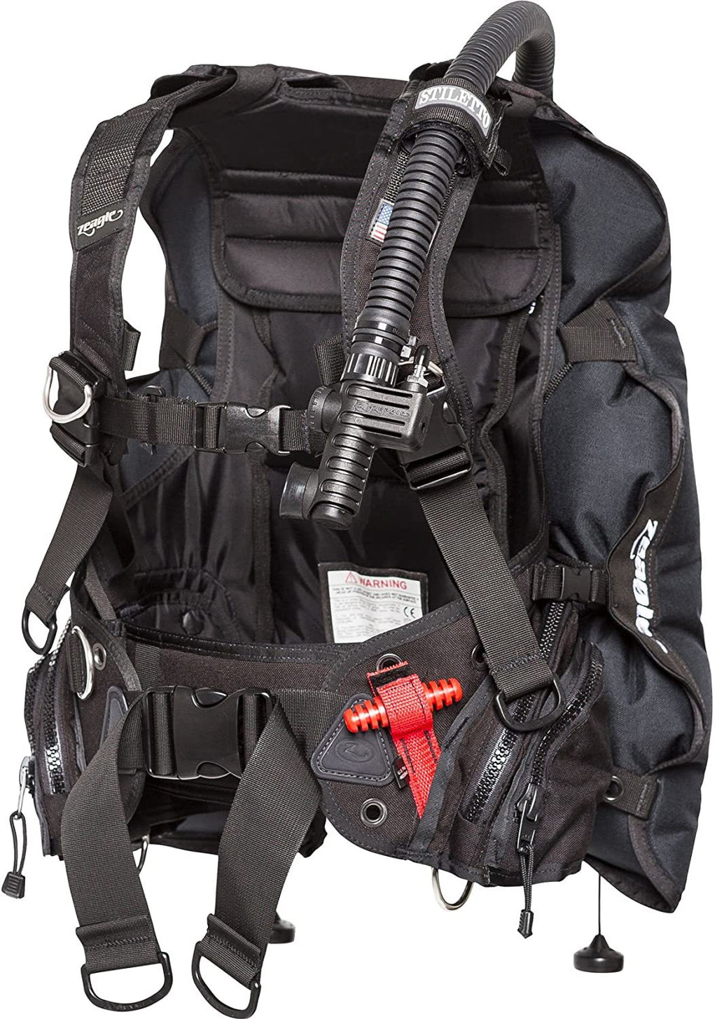 Zeagle Stiletto BCD with The Ripcord Weight System, Black, Medium