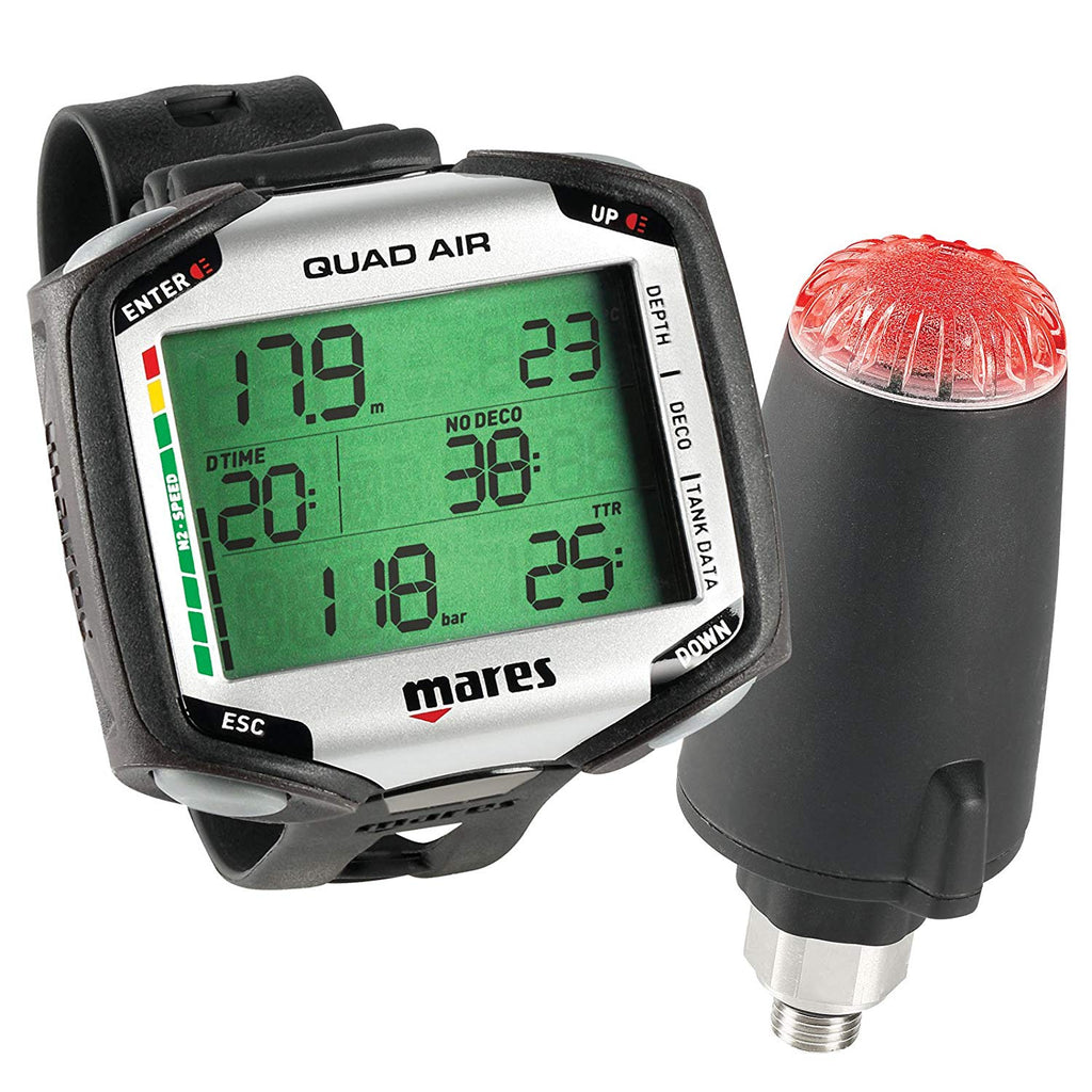 Mares Quad Air Dive Computer w/ LED TRANSMITTER