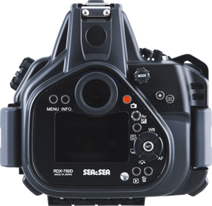 Sea & Sea RDX-750D Underwater Housing for the Canon EOS 750D / 800D / Rebel T6i / Rebel T7i
