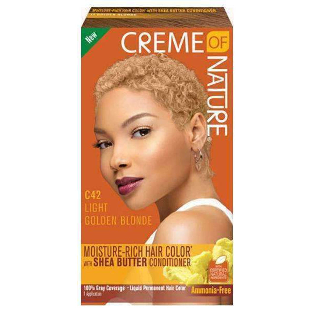 Creme of Nature Liquid Hair Color #C42 Light Golden Blonde