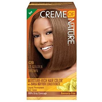 Creme of Nature Liquid Hair Color #C20 Light Golden Brown