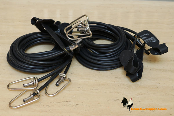 5' Rubber - Half Dozen - Gamefowl Tie Cords - QTY 6