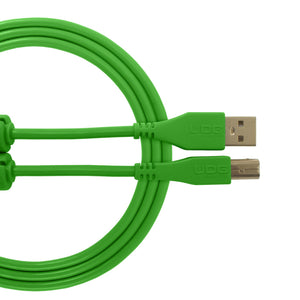 UDG Ultimate Audio Cable USB 2.0 A-B Green Straight