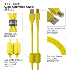 UDG Ultimate Audio Cable USB 2.0 A-B Yellow Straight