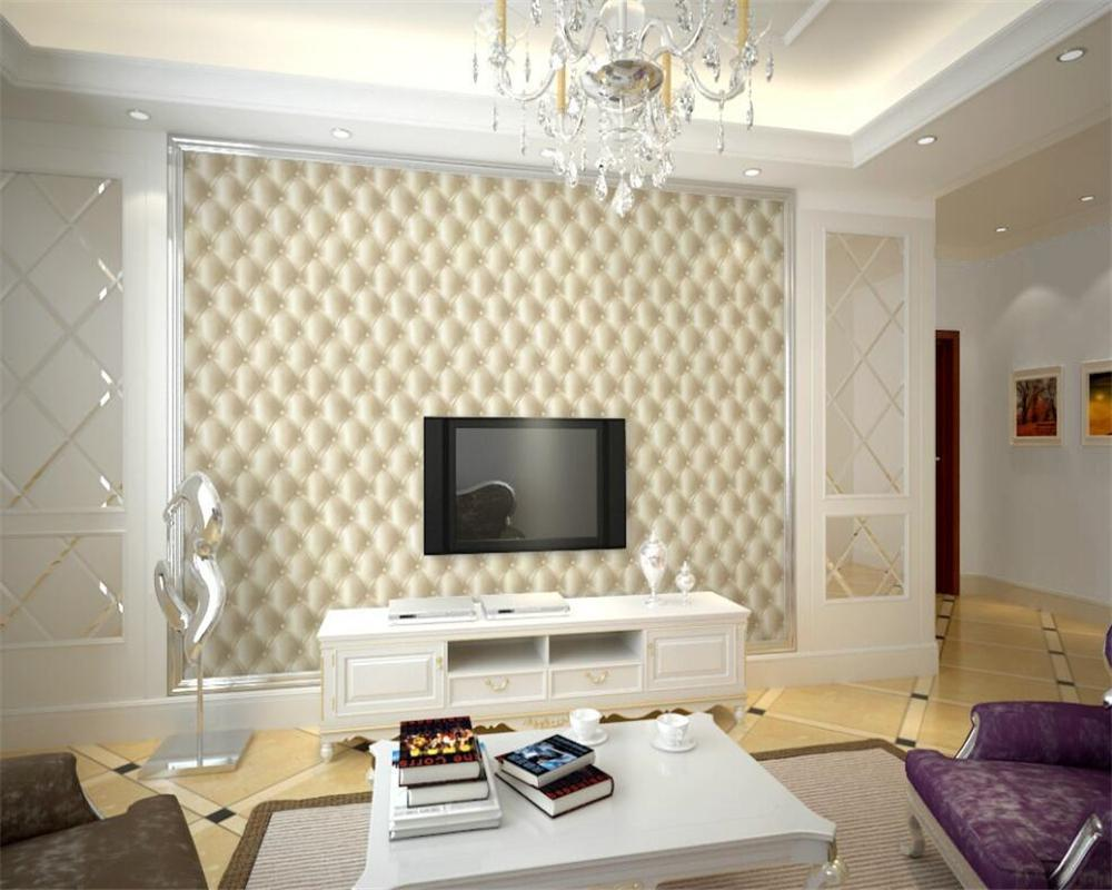 European style imitation leather wallpapers 3D - room wallpaper shop