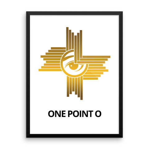 ONE POINT O GOLD Framed Poster - One Point O