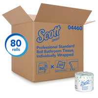 SCOTT 2PLY STANDARD TOILET TISSUE INDV WRAPPED 80RL/550 SHT