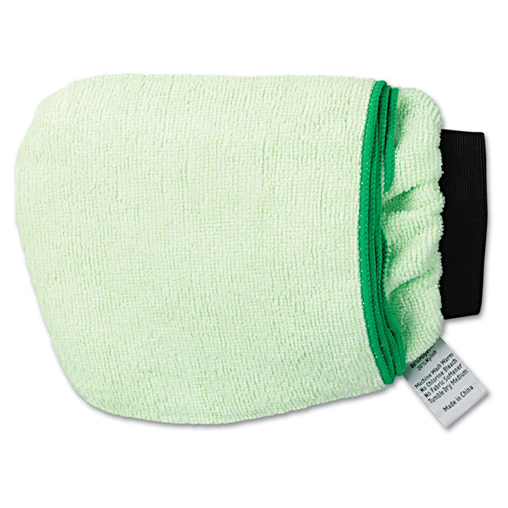 Boardwalk Grip-N-Flip 10 Sided Microfiber Mitt, 7 x 6, Green