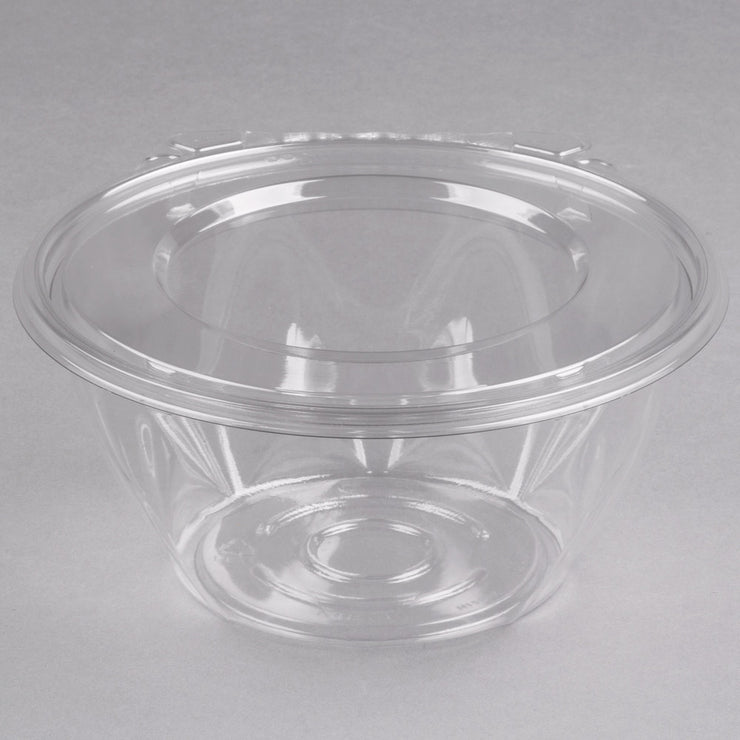 SAFESEAL 32oz BOWL W/FLAT LID  TAMPER EVIDENT CLEAR 150/CS