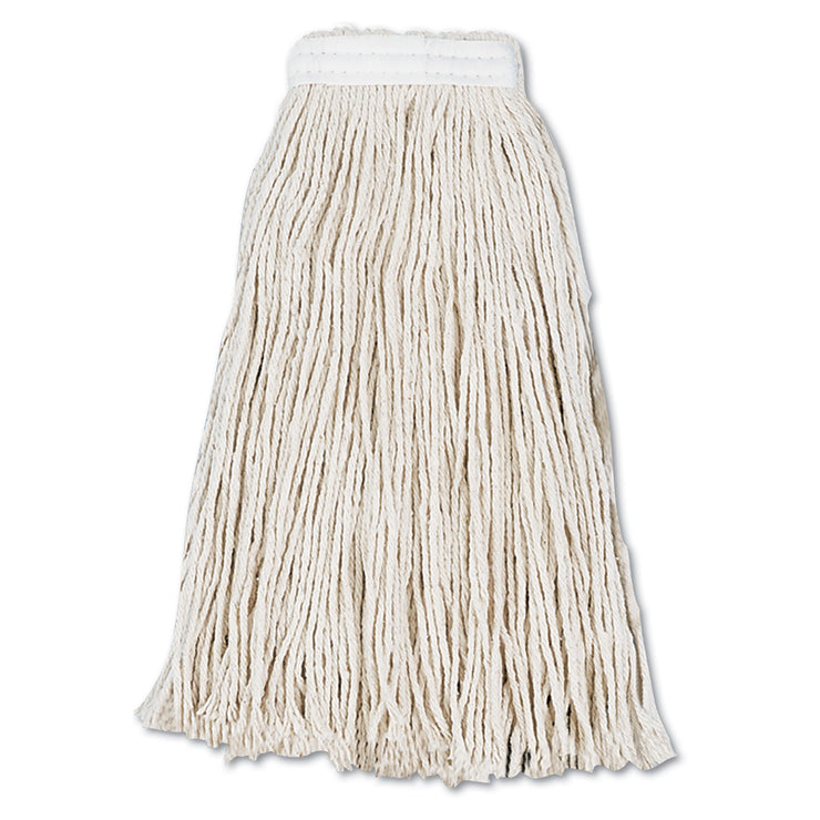 Boardwalk Cut-End Wet Mop Head, Cotton, #16, White, 12/Carton