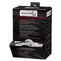 "Anchor Brand Lens Cleaning Towelettes, 5 in x 8"", White, 100/Box"