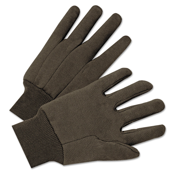 Anchor Brand Jersey General Purpose Gloves, Brown, 12 Pairs
