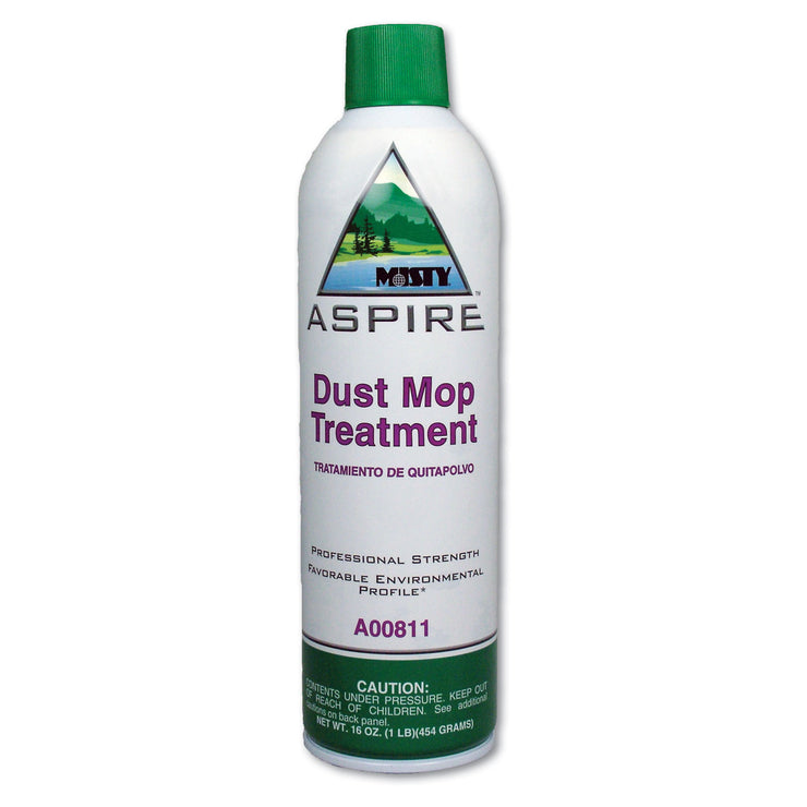 Misty Aspire Dust Mop Treatment, Lemon Scent, 20 oz. Aerosol Can, 12/Carton