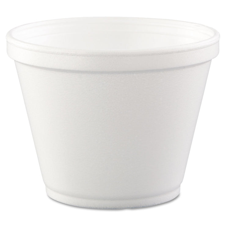 Dart Food Containers, Foam,12oz, White, 25/Bag, 20 Bags/Carton