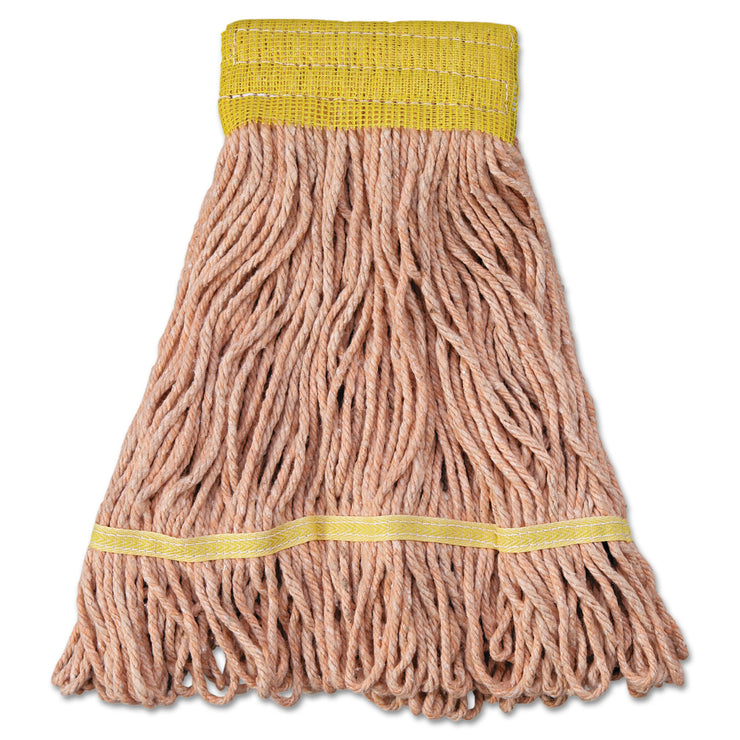 Boardwalk Mop Head, Super Loop Head, Cotton/Synthetic Fiber, Small, Orange, 12/Carton