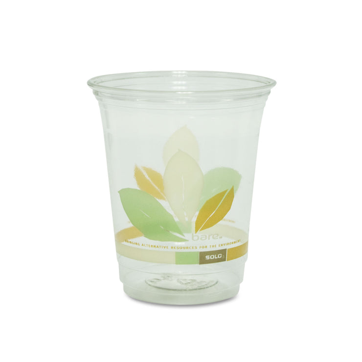 Dart Bare Eco-Forward RPET Cold Cups, 12-14 oz, Clear, 50/Pack, 1000/Carton