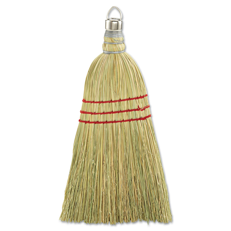 Boardwalk Whisk Broom, Corn Fiber Bristles, Yellow, 12/Carton