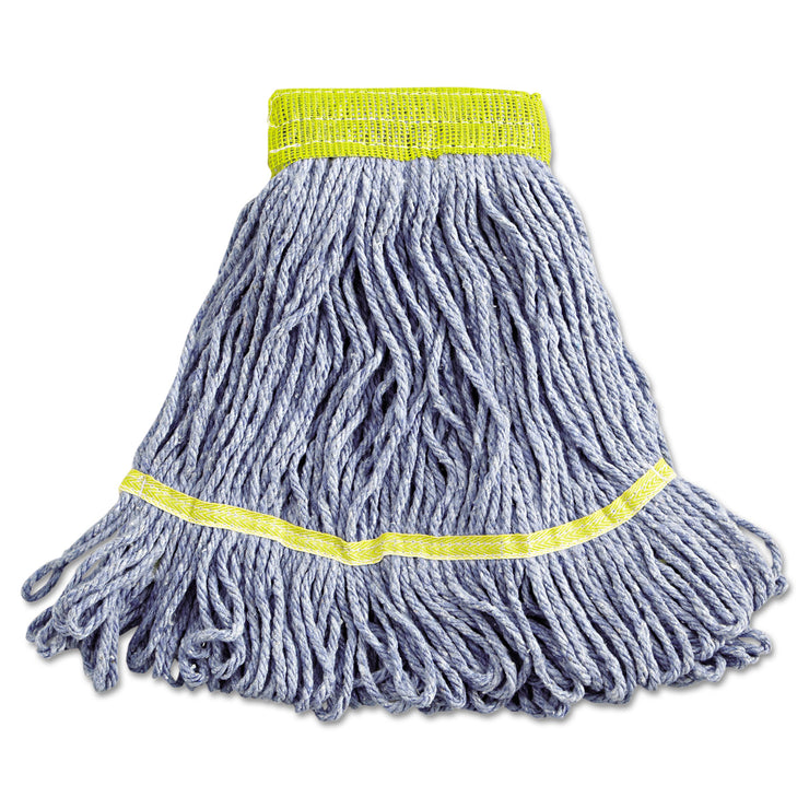 Boardwalk Super Loop Wet Mop Heads, Cotton/Synthetic, Small Size, Blue
