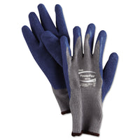 AnsellPro PowerFlex Gloves, Blue/Gray, Size 9, 1 Pair