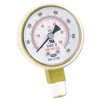 Anchor Brand Replacement Gauge, 2 x 100, Brass