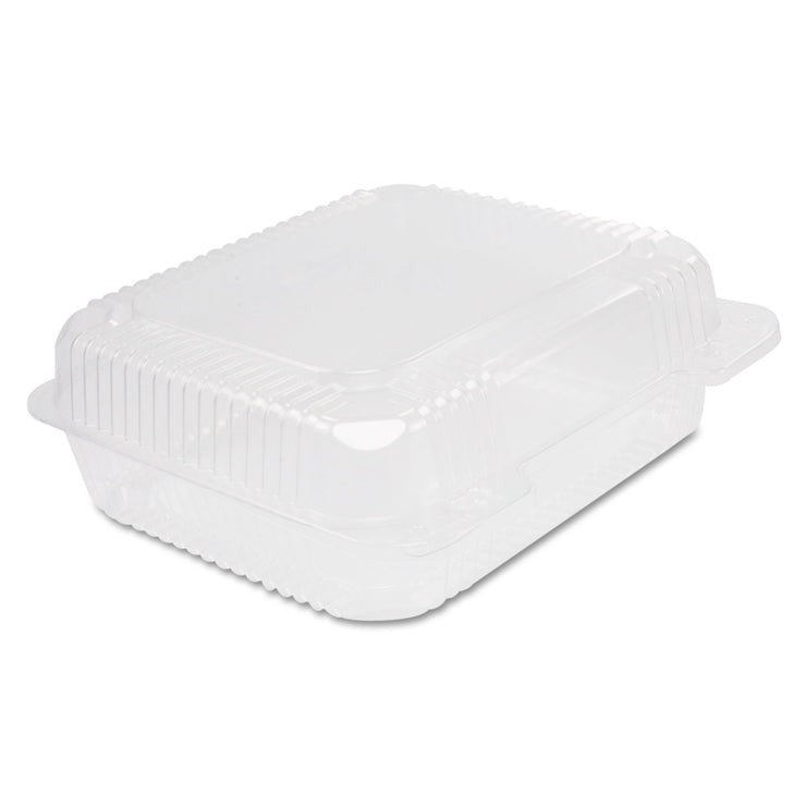 Dart Staylock Clear Hinged Container, Plastic, 8 3/10 x 7 4/5 x 3, 125/Bag, 2BG/CT