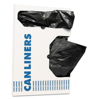 "AccuFit Can Liners, 16 gal, 1 mil, Black, 24"" x 32"", 250/Carton"