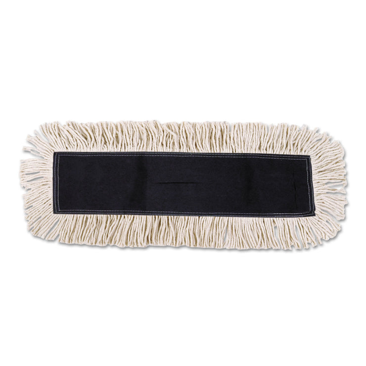 Boardwalk Disposable Dust Mop Head w/Sewn Center Fringe, Cotton/Synthetic, 36w x 5d, White