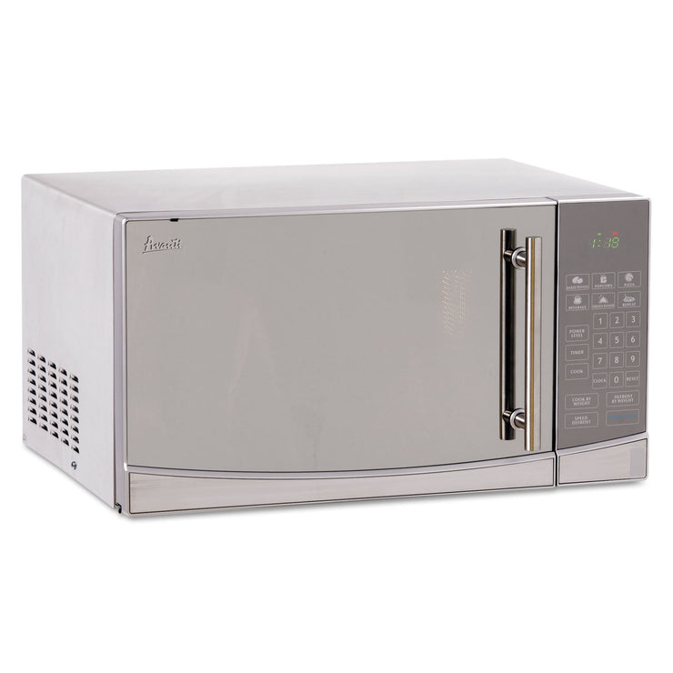 Avanti 1.1 Cubic Foot Capacity Stainless Steel Touch Microwave Oven, 1000 Watts