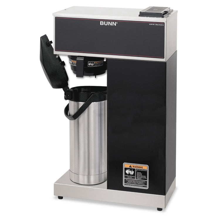 BUNN VPR-APS Pourover Thermal Coffee Brewer with 2.2L Airpot, Stainless Steel, Blac k