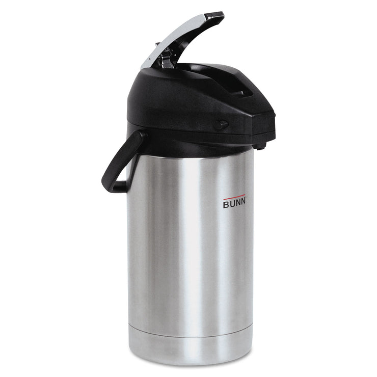 BUNN 3 Liter Lever Action Airpot, Stainless Steel/Black