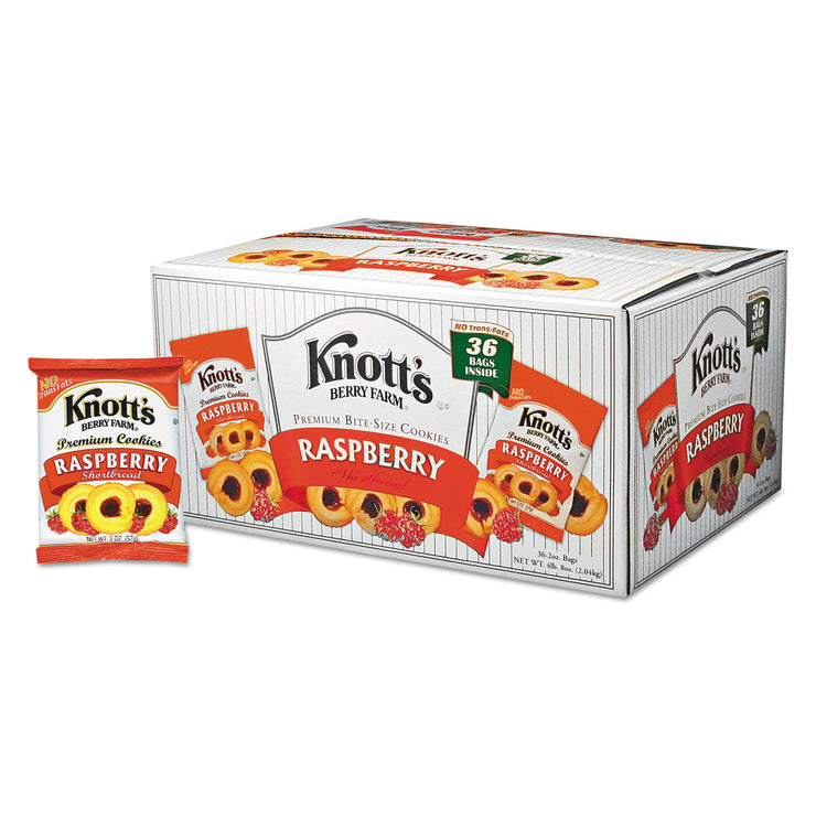 Knott's Berry Farm Premium Berry Jam Shortbread Cookies, 2 oz Pack, 36/Carton