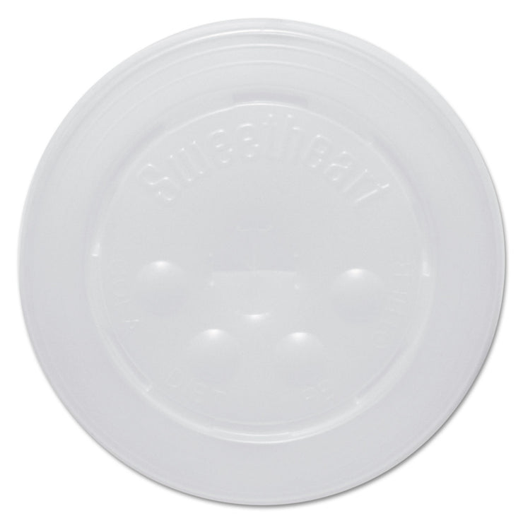 Dart Polystyrene Cold Cup Lids, 16-22oz Cups, Translucent, 125/Pack, 16 Packs/Carton