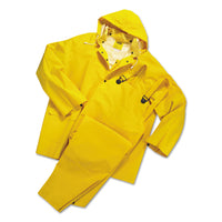 Anchor Brand Rainsuit, PVC/Polyester, Yellow, 4X-Large
