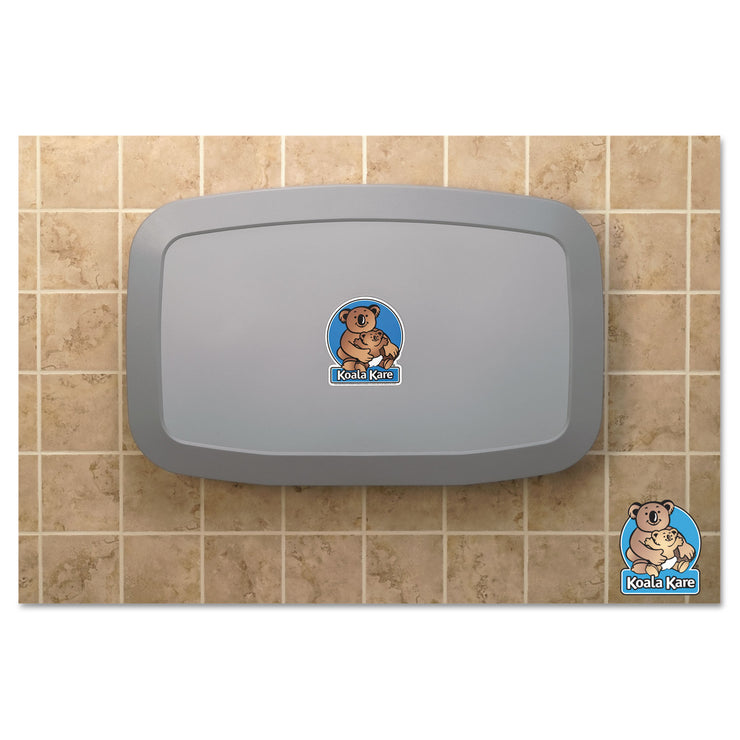 Koala Kare Horizontal Baby Changing Station, Gray