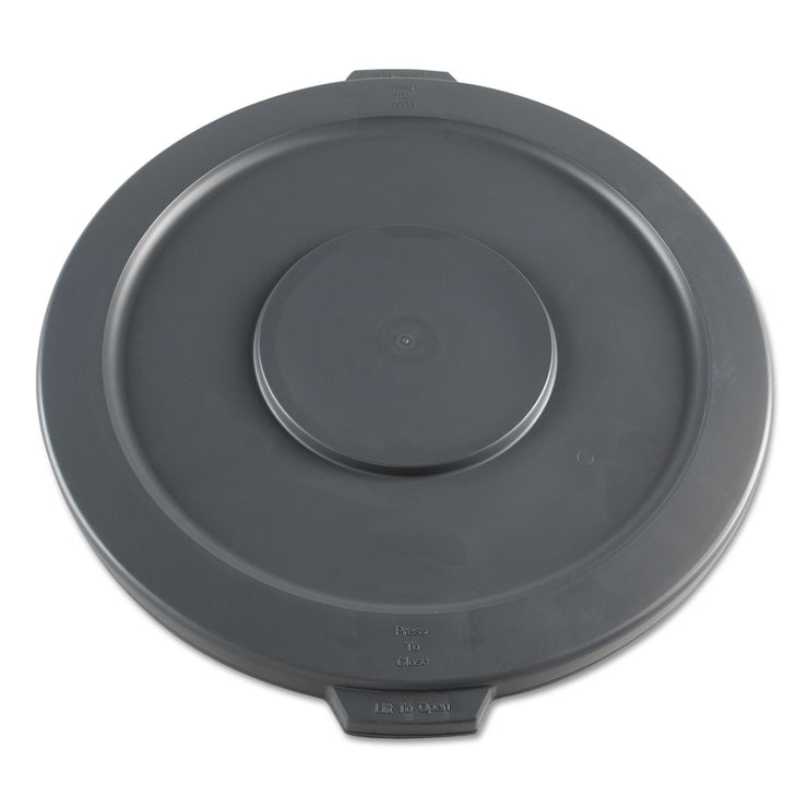 Boardwalk Lids for 32-Gal Waste Receptacle, Flat-Top, Round, Plastic, Gray