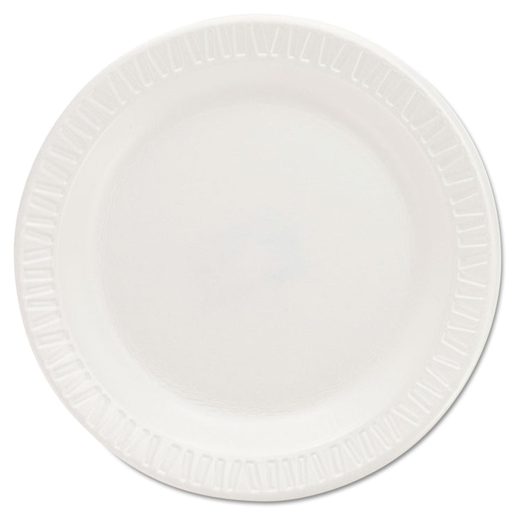 Dart Quiet Classic Laminated Foam Dinnerware Plates, 6 Inches, White, Round, 125/Pac k