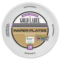 AJM Packaging Corporation Coated Paper Plates, 9 Inches, White, Round, 100/Pac k