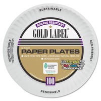 AJM Packaging Corporation Coated Paper Plates, 6 Inches, White, Round, 100/Pac k