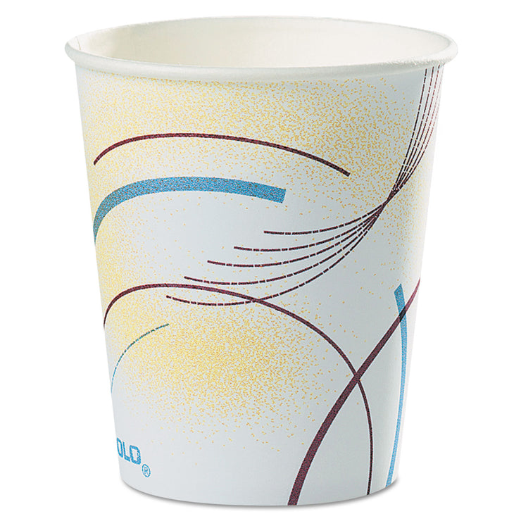 Dart Paper Water Cups, 5 oz., Cold, Meridian Design, Multicolored, 100/Bag