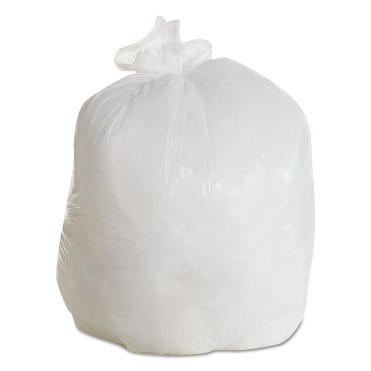 Boardwalk LD Can Liners, 20-30gal, .60mil, 30w x 36h, White, 25 Bags/Roll, 8 Rolls/CT