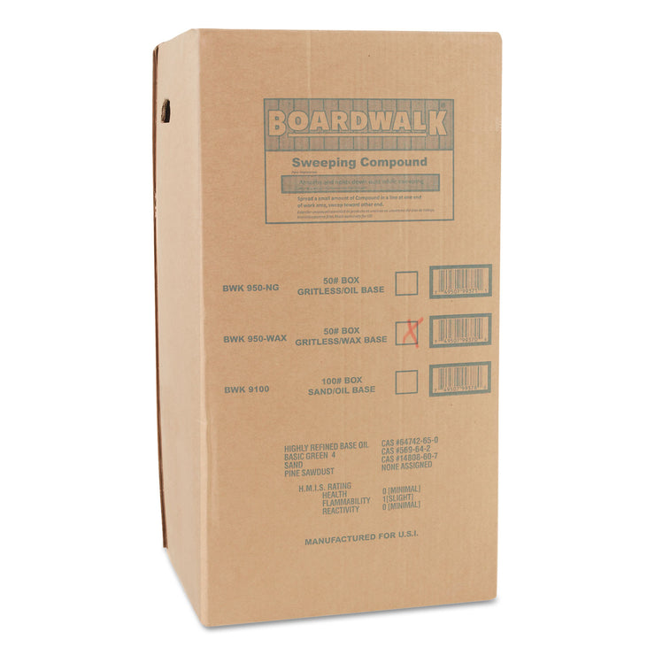 Boardwalk Wax Base Sweeping Compound, Granular, 50 lb Box