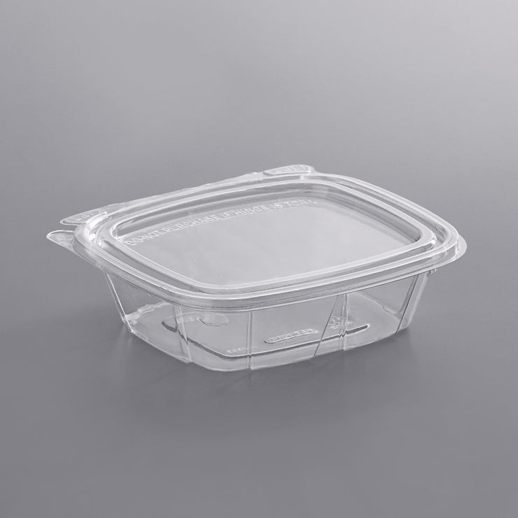 8oz CLEARPAC SAFESEAL CONTAINER TAMPER-RESISTANT / EVIDENT WITH FLAT LID 200/CS