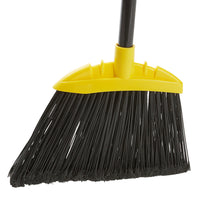 "10"" Jumbo Smooth Sweep Angled Broom with Black Flagged Bristles and 48"" Handle"