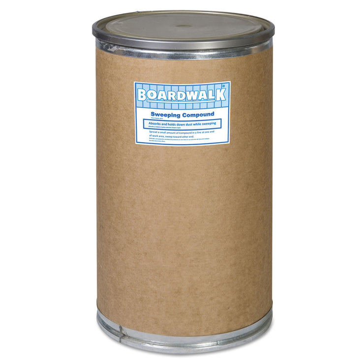 Boardwalk Oil-Based Sweeping Compound, Grit, 300lbs, Drum