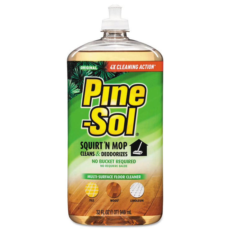 Pine-Sol Squirt 'n Mop Multi-Surface Floor Cleaner, 32 oz Bottle, Original Scent